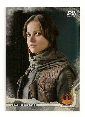 2016 Topps Star Wars Rogue One #1 Jyn Erso #/100 Gray #099/100
