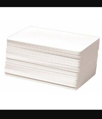 100 Blank White PVC Cards, CR80, 30 Mil, Graphics Quality, Plastic Id Card