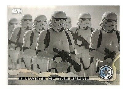 2016 Topps Star Wars Rogue One #68 Servants Of The Empire #/100 Gray #079/100