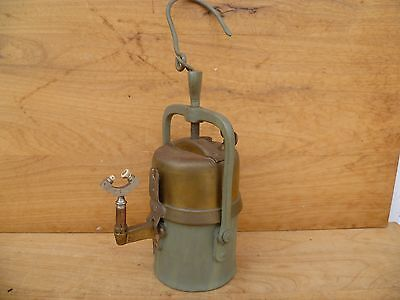 Antique Old Large Size Mining Lamp, Carbide Light Numbered, Branded (E29)