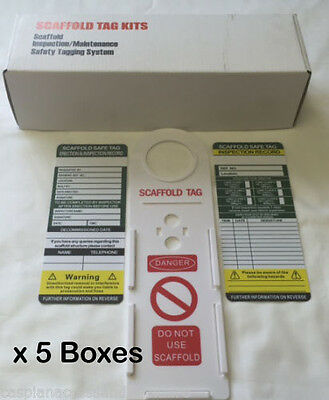 5 Boxes (50 x Scaffolding Tags) - New in Box - Premium Quality - Fantastic Value