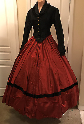 I-D-D Victorian Riding Costume Dickens Jacket Skirt