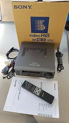 Sony EV-C100 HI8 VCR Player/Recorder NTSC S-Video with remote WORKING