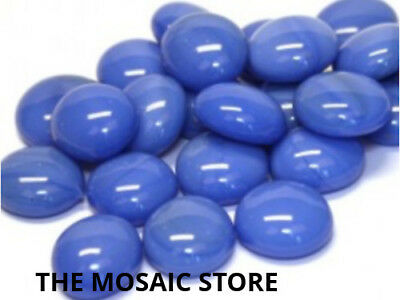 Blue Marble Glass Gems - Mosaic Art & Craft Supplies