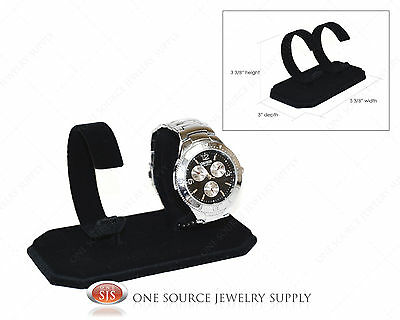 Double Black Watch Display Stand Showcase Display Watch Stand Metal Watch Holder
