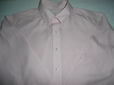Brooks Brothers Men's Size 17 1/2 34 Button Front Dress Shirt