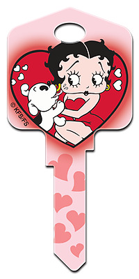BETTY BOOP & PUDGY House Key Blank SC-1 SCHLAGE