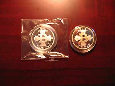 Series 1 & 2 Set-MicroSoul Loaded .05 Silver Bit coin (Casascius/Physical Coin)