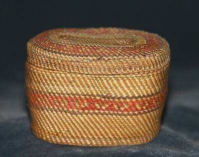 Super tight weave  some as tight as 16  stitch per inch, early Makah basket