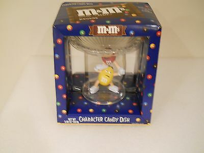 New In Box M & M Candies - M&ms - Red Yellow Character Candy Dish - Collectible
