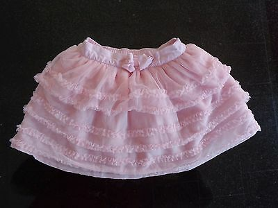 Baby Girl 0-3 Months JANIE AND JACK Pink Ruffled Tulle Layered Tutu Skirt~Easter
