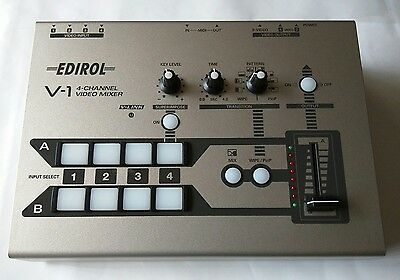 Roland EDIROL 4-Channel Video Mixer V-1  **Discontinued** TESTED AND WORKING
