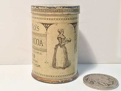 1890 Walter Baker Sample Cocoa Tin Chocolate Advertising Vintage Antique Can