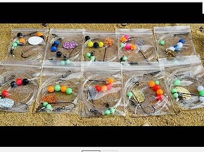 10 Flat Fish Rigs (flattie) Top Quality Hand Made In Cornwall Free P&P...