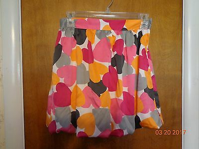 Gymboree Girl's skirt multi-color/hearts size 12