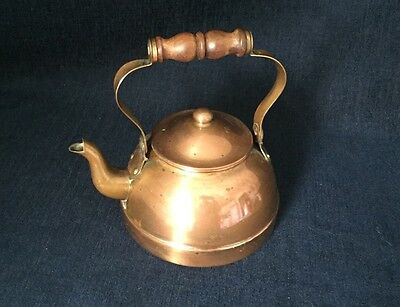Vintage Tagus Copper Teapot R51 Made In Portugal