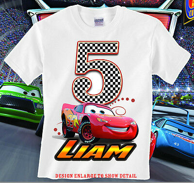 Cars Birthday shirt, Lightning Mcqueen Shirt, Birthday Shirt, Custom Name & Age