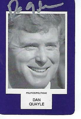 Dan Quayle Signed Face To Face Game Card - Vice President Of The United States