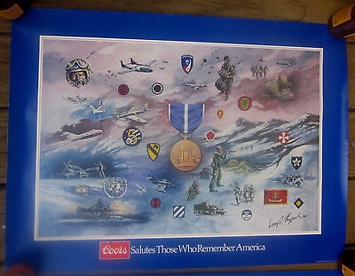 1984 Coors Beer military poster Viet Nam Service by artist George Skypeck