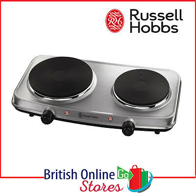 Russell Hobbs 15199 Portable 2 Ring Plate Mini Stove Hob Cooker 1500W & 750W