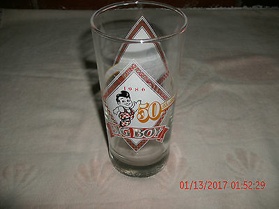VINTAGE Bob's Big Boy Restaurant 50th Anniversary Glass