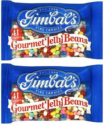 Gimbal's Gourmet Jelly Beans: Two 20 oz Bags (Total Weight 2.9 Pounds!)