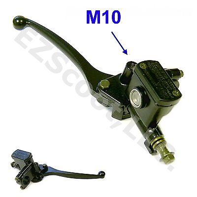 Hydraulic Brake Master Cylinder Right Lever M10 Mirror Gy6 Scooter Moped Taotao