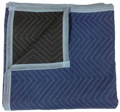 Moving Blanket 72 X 80 Inch (12-Pack) Blue Black Padded Furniture Blanket New