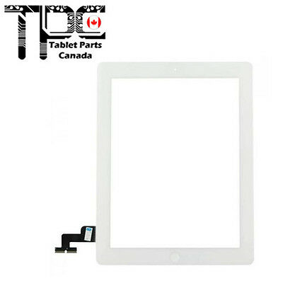 New Apple iPad 2 White Touch Screen Digitizer + Home Button + Adhesive