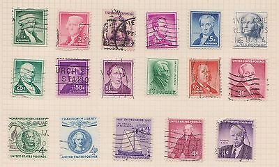 (Q20-62) 1902-60 USA mix of 35stamps value to $1 (C)