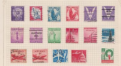 (Q20-64) 1922-64 USA mix of 33stamps value to 30c (E)