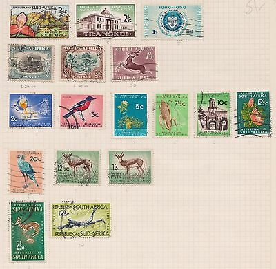 (Q20-42) 1933 South Africa mix of 17stamps value to 5/-