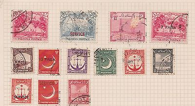 (Q20-2) 1940 Pakistan mix of 28stamps values to 2A (B)