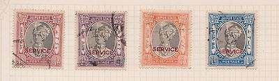 (Q20-4) 1931 JAIPUR state mix of 4stamps value to 1A