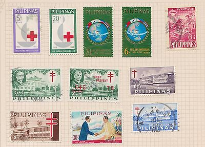 (Q20-6) 1950-60s Philippines mix of 17stamps values to 30S