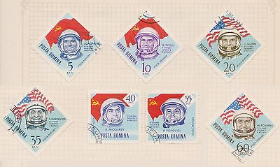 (Q20-24) 1964 Romania mix of 7stamps space values to 60b (B)