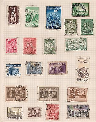 (Q20-19) 1950s Poland mix of 21stamps value to 5z (J)
