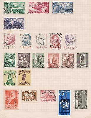 (Q20-18) 1945-60s Poland mix of 22stamps value to 1Z35 (I)