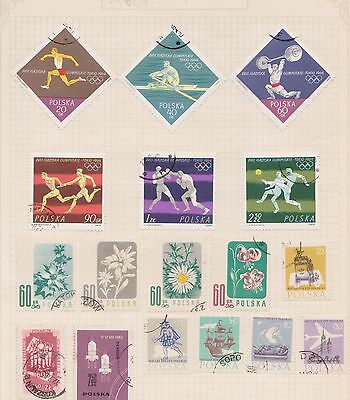 (Q20-17) 1960s Poland mix of 17stamps value to 2Z50 (H)