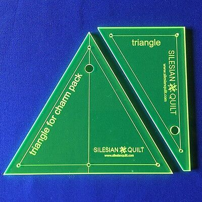 Template für Patchwork: Triangle for charm pack (2 pcs)