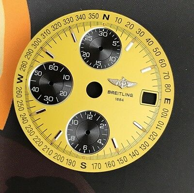 Breitling Chronomat Yellow Dial Esfera Face New Old Stock Amarillo Watch Edition