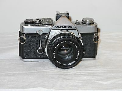 OLYMPUS OM-1 MD & 50mm 1.8 lens with extras