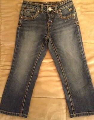 JUSTICE Girls Size 10 Short Simply Low Medium Wash Denim Jeans - EUC