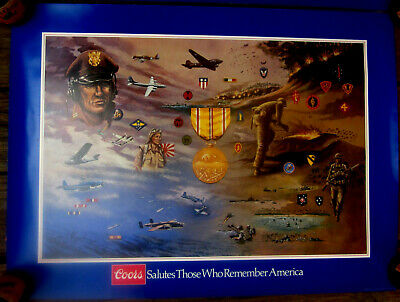 1984 Coors Beer military poster Asiatic Pacific Campaign by  George Skypeck