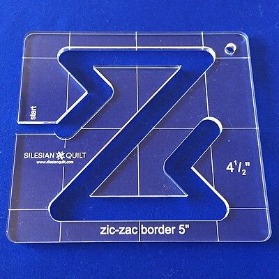 Quilting Template: Zic-Zac Border 5 inches