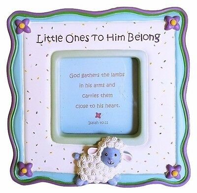 Little Lamb Picture Frame Baby Photo Frame Gift -  Little Ones to Him Belong