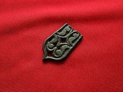 Ancient CELTIC bronze belt buckle . 4 cm / 100 bc
