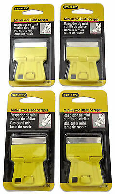 "Stanley® 1-3/16"" High Visibility Mini-Razor Blade Scraper set of 4"