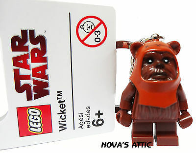 Star Wars Lego Ewok Wicket Keyring Minifigure Brand New