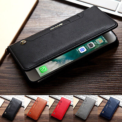 Luxury Leather Wallet Card Stand Back Case Cover For Apple iPhone  8 & 7 6S Plus
